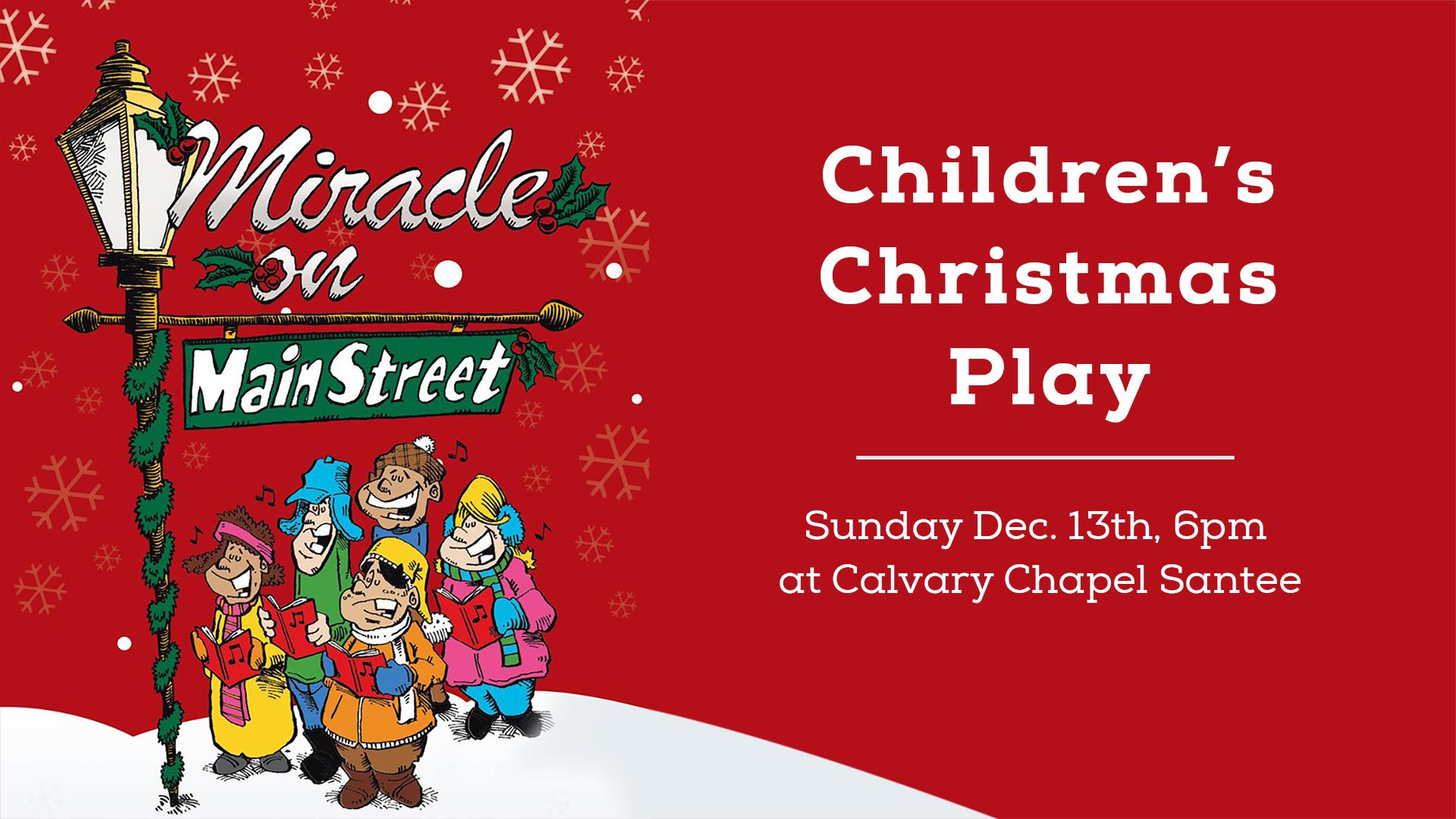 Children\'s Christmas Play | Calvary Chapel Santee